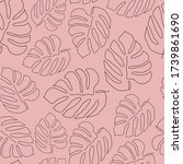 seamless pattern with monstera... | Shutterstock .eps vector #1739861690