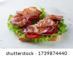 Grilled Bacon Sandwich On Pape...