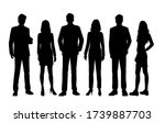 set of vector silhouettes of ... | Shutterstock .eps vector #1739887703
