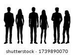 set of vector silhouettes of ... | Shutterstock .eps vector #1739890070