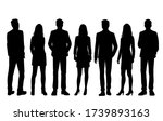 set of vector silhouettes of ... | Shutterstock .eps vector #1739893163