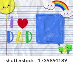I Love Dad With A Message...