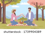 young people have a romantic... | Shutterstock .eps vector #1739904389