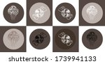 set of fantasy  abstract hand... | Shutterstock .eps vector #1739941133