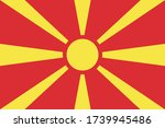 macedonia flag official vector... | Shutterstock .eps vector #1739945486