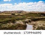Landscape View Of Badlands...