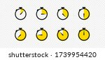 stopwatch timer set icon vector ...