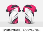 pink  white and black pattern... | Shutterstock .eps vector #1739962703