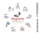 hygiene line icons set. vector... | Shutterstock .eps vector #1739982863