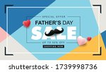 happy fathers day sale 50  off... | Shutterstock .eps vector #1739998736