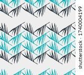 trendy tropical vector seamless ... | Shutterstock .eps vector #1740004199