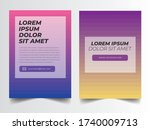 poster flyer brochure template... | Shutterstock .eps vector #1740009713