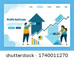 landing page of profit and loss....