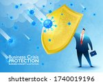 business crisis protection.... | Shutterstock .eps vector #1740019196