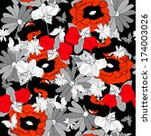 floral design | Shutterstock . vector #174003026