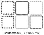 set of vector frames   squares | Shutterstock .eps vector #174003749