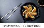 Fried Dumplings Gyoza In A...