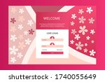 vector welcome screen for user...