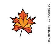 maple leaf icon. simple outline ...