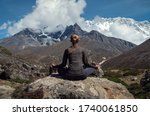 serenity and yoga practicing at ... | Shutterstock . vector #1740061850