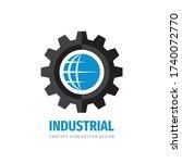global technology gear concept... | Shutterstock .eps vector #1740072770
