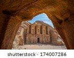 Monastery At Petra  Jordan