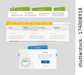 website design template  menu...