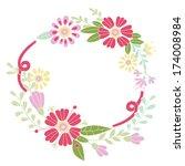 flower frame. designed for...   Shutterstock .eps vector #174008984