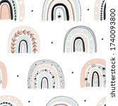modern hand drawn prints with...   Shutterstock .eps vector #1740093800