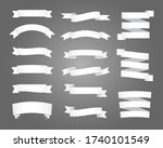 set of white ribbons and... | Shutterstock .eps vector #1740101549