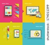 modern  infographic  or... | Shutterstock .eps vector #174011399