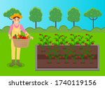 woman wearing hat and uniform... | Shutterstock .eps vector #1740119156