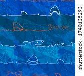 abstract seamless like shark... | Shutterstock .eps vector #1740135293