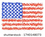 stylization of american flag... | Shutterstock .eps vector #1740148073
