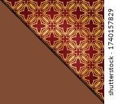 vector geometric background for ... | Shutterstock .eps vector #1740157829
