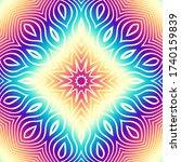 ornamental mandala on... | Shutterstock .eps vector #1740159839