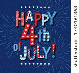 happy 4th of july 2020 in red... | Shutterstock .eps vector #1740161363