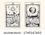 tarot card deck.  major arcana ...   Shutterstock .eps vector #1740167603