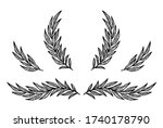 art hand drawn set of...   Shutterstock .eps vector #1740178790