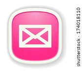 the pink glossy icon with...