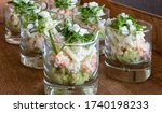 Appetizer With Avocado And Crab.