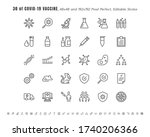 simple set of covid 19 ... | Shutterstock .eps vector #1740206366