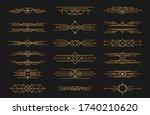 set of art deco black... | Shutterstock .eps vector #1740210620