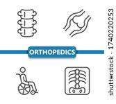 orthopedics icons. professional ...   Shutterstock .eps vector #1740220253