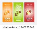 orange  kiwi and apple juice...   Shutterstock .eps vector #1740225260