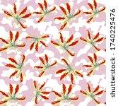 gloriosa flowers and trendy... | Shutterstock .eps vector #1740225476