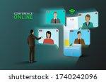 illustrations concept video...   Shutterstock .eps vector #1740242096