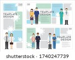 group of business people and... | Shutterstock .eps vector #1740247739