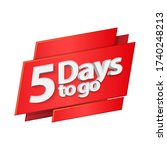 3d digits banner three days to... | Shutterstock .eps vector #1740248213
