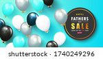 happy father's day sale banner... | Shutterstock .eps vector #1740249296